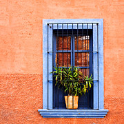 Painterly Photos - Window in San Miguel de Allende Mexico Square by Carol Leigh