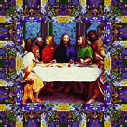 Christ Face Digital Art Prints - Window Into The Last Supper 20130130p28 Print by Wingsdomain Art and Photography
