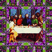 Christ Face Digital Art Prints - Window Into The Last Supper 20130130p68 Print by Wingsdomain Art and Photography