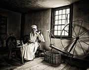 Spinning Wheel Prints - Window Light Print by Patrick M Lynch