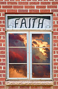 Christian Artwork Photo Metal Prints - Window of Faith Metal Print by James Bo Insogna
