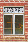 Red Bricks Prints - Window of Hope 2 Print by James Bo Insogna