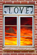 With Love Photo Framed Prints - Window Of Love Framed Print by James Bo Insogna