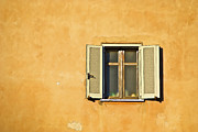 Weathered Shutters Framed Prints - Window of Rome Framed Print by David Letts
