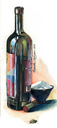 Wine Bottle Prints Paintings - Window on a Bottle by Alessandra Andrisani