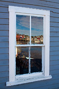 Nubble Lighthouse Posters - Window Reflections  Poster by Emmanuel Panagiotakis