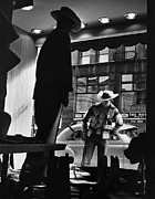 Window Shopping Cowboy Print by Photo Researchers