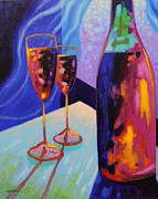 Wine Glasses Prints - Window Still Life Print by John  Nolan