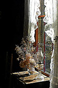 Oil Lamp Prints - Window Sunshine 2 Print by Sheri McLeroy