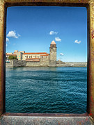 Collioure Framed Prints - Window to Collioure Framed Print by Mountain Dreams