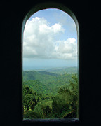 Yokahu Tower Prints - Window to Paradise  Print by Jon William Lopez