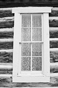 Cabin Window Photos - Window To The Old West by Diane Alexander