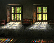 Past Times Prints - Window To The Past Print by Kiril Stanchev