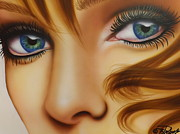 Soulful Eyes Paintings - Window to the Soul by Darren Robinson