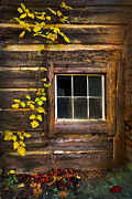 Old Cabins Posters - Window to the Soul Poster by Debra and Dave Vanderlaan