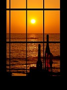 Beach Photograph Prints - Window View Print by Athala Carole Bruckner