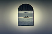 Puerto Rico Digital Art Prints - Window View of Desert Island Puerto Rico Prints Lomography Print by Shawn OBrien