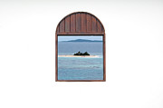 Window View Of Desert Island Puerto Rico Prints Print by Shawn OBrien