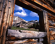 Cabin Window Prints - Window View Print by Ray Mathis