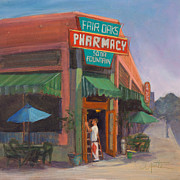 Pharmacy Art - Window Washer by Athena  Mantle