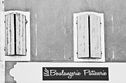 Duotone Photos - Windows Above the Boulangerie by Georgia Fowler