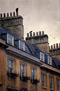 Bath England Framed Prints - Windows and Chimneys Framed Print by Jill Battaglia