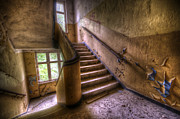 Tiled Digital Art Prints - Windows and stairs Print by Nathan Wright