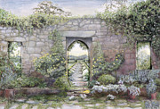 Entrance Door Painting Framed Prints - Windows Framed Print by Ariel Luke