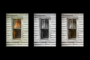 Cabin Window Posters - Windows Black Poster by Paul Bartoszek