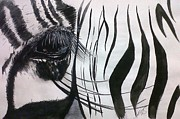 Paula Steffensen Art - Windows I Zebra. by Paula Steffensen
