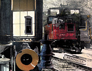 Caboose Mixed Media Posters - Windows into the Past Poster by Patricia Januszkiewicz