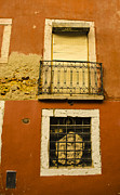 Cobblestones Posters - Windows of the Alfama Poster by Deborah Smolinske