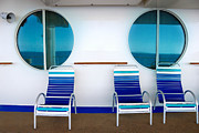 Adventure Of The Seas Prints - Windows Reflecting the Sea Print by Amy Cicconi