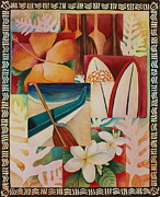 Paddles Paintings - Windows To Hawaii by Ann Hurst