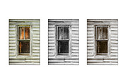 Cabin Window Framed Prints - Windows White Framed Print by Paul Bartoszek