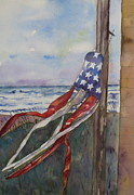 Topsail Island Painting Prints - Windsock Print by Anne McMath