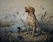 Sporting Art Prints - WindSong--Chesapeake Print by Alice Taylor