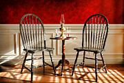Oil Lamp Metal Prints - Windsor Chairs Metal Print by Olivier Le Queinec