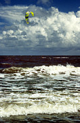 Surf Photos Art Prints - Windsurfer Print by Skip Willits