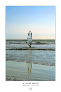 Wind Surfing Art Art - Windsurfing Art Poster - California Collection by Ben and Raisa Gertsberg