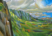 Oahu Painting Framed Prints - Windward Passage Framed Print by Douglas Simonson
