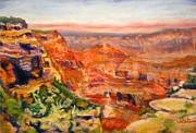 Arizona Pastels - Windy Afternoon Below Cape Royal by Katrina West
