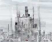 Andy Mercer Prints - Windy City Print by Andy  Mercer