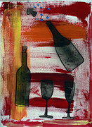 Bubbly Painting Framed Prints - Wine - 1717 Framed Print by Richard Sean Manning