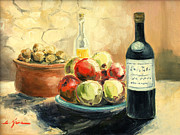 Olive Oil Originals - Wine and apples by Luke Karcz