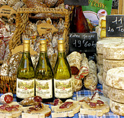 French Wine Prints - Wine and Cheese Print by Douglas J Fisher