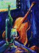 Acoustic Guitar Painting Originals - Wine And Music by Frederick Luff  GALLERY