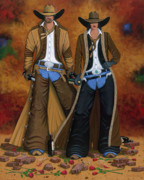 Scottsdale Cowboy Originals - Wine And Roses by Lance Headlee