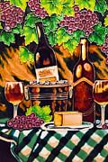 Wine Print by Angelika Bentin