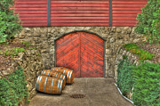 Cellar Framed Prints - Wine at the Cellar Door Framed Print by Jimmy Ostgard